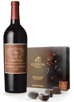 Dark Godiva Chocolate and Napa Valley Cabernet Wine