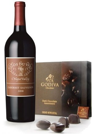 Dark Godiva Chocolate and Napa Valley Cabernet Wine