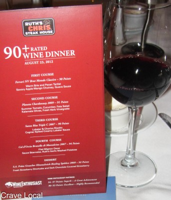 Ruth's Chris Winter Park Wine Pairing Dinner