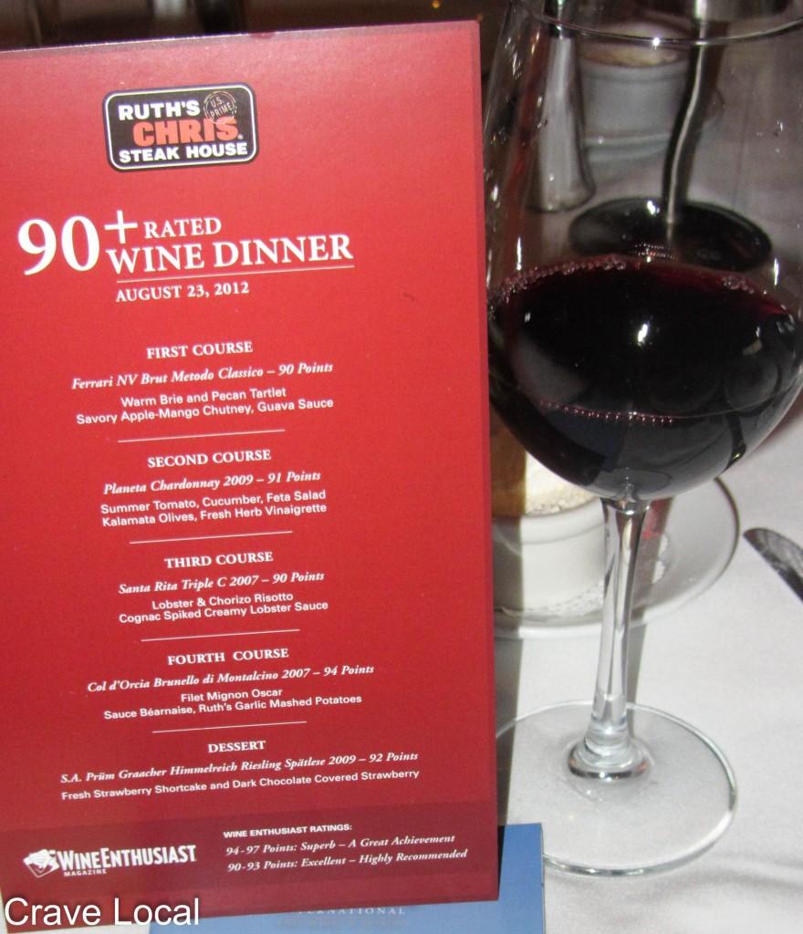 Ruth's Chris Wine Pairing Dinner