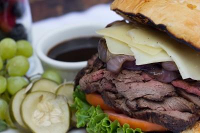 7 on Fulton roast beef sandwich New Orleans