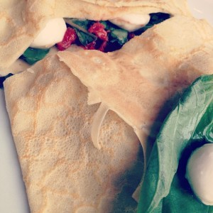 caprese crepe @ willows lodge