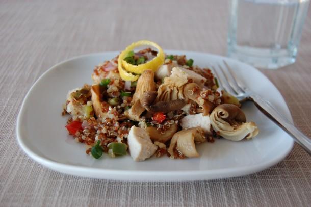 mushroom recipes entree quinoa