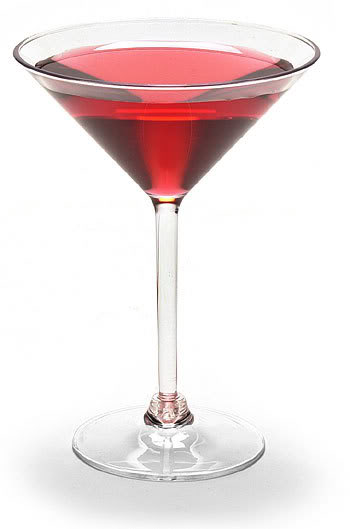 Valentines Day dark chocolate cherry martini
