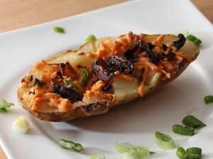 loaded baked potato skins vegan