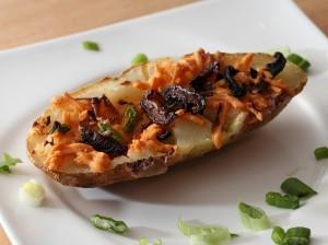 loaded baked potato skins vegan