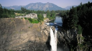 Salish Lodge & Spa sits atop the 268-foot Snoqualmie Falls