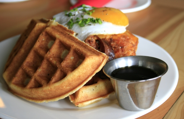 chicken and waffles-Red Door Lakeland