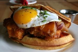 chicken and waffles-Red Door-Lakeland