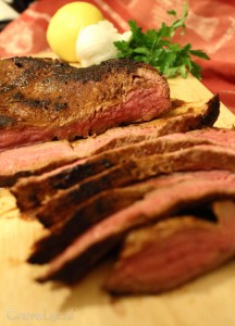 Chile Cocoa Rubbed Flank Steak Recipe
