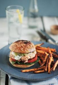 Salmon Burger Sharper by Souvlaki for the Soul