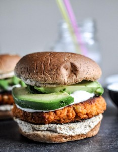 Sweet Potato Burgers by How Sweet It Is