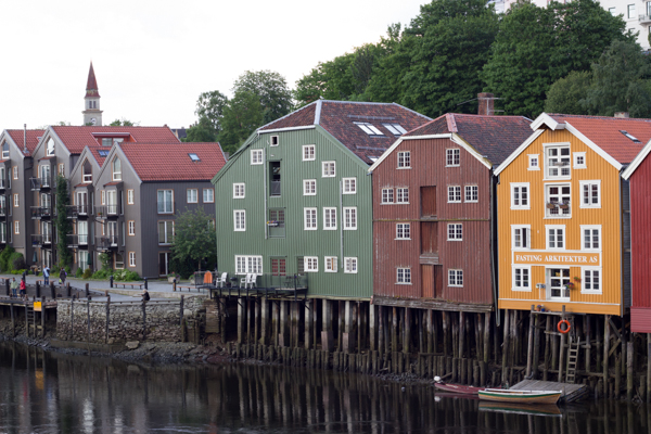 Norway-Trondheim riverbank