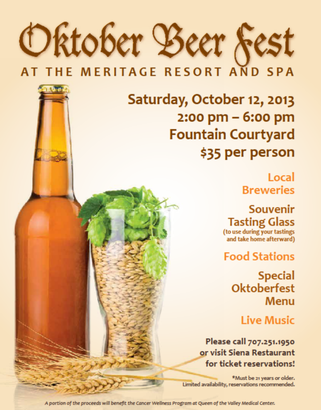 Oktober Brew Fest at The Meritage Resort and Spa in Napa