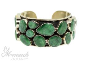 Emerald Pear Bezel Cuff Bracelet