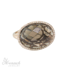 Asher Cut Smoky Quartz Rose Gold Ring Monarch Jewelry