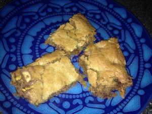 Toffee Coconut Blond Brownies Recipe