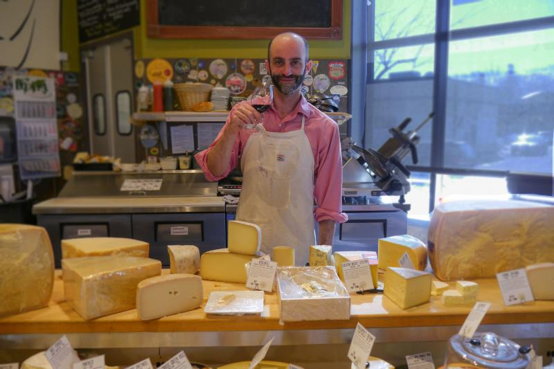 France 44 Cheese & St Paul Cheese Shop Cheesemonger Benjamin Roberts