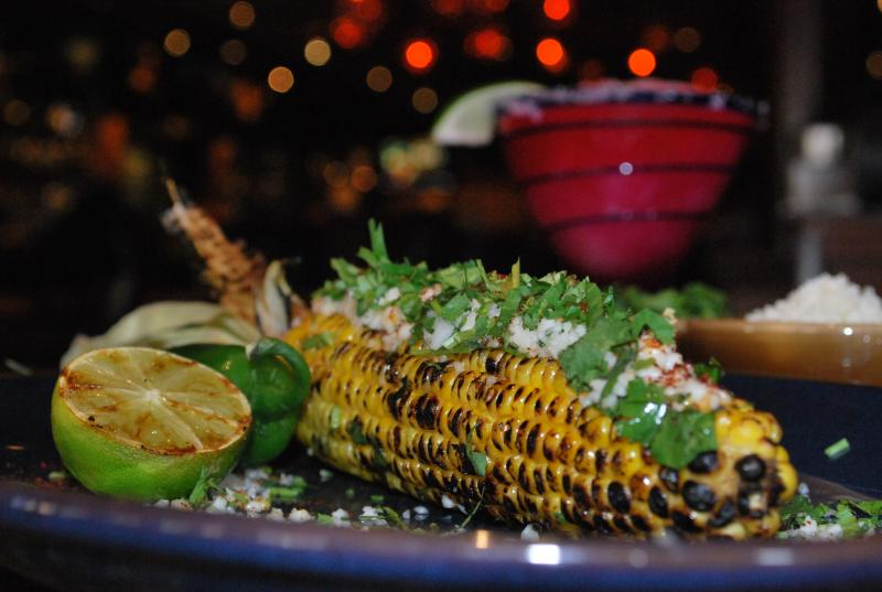 Esquites grilled corn mexican appetizer