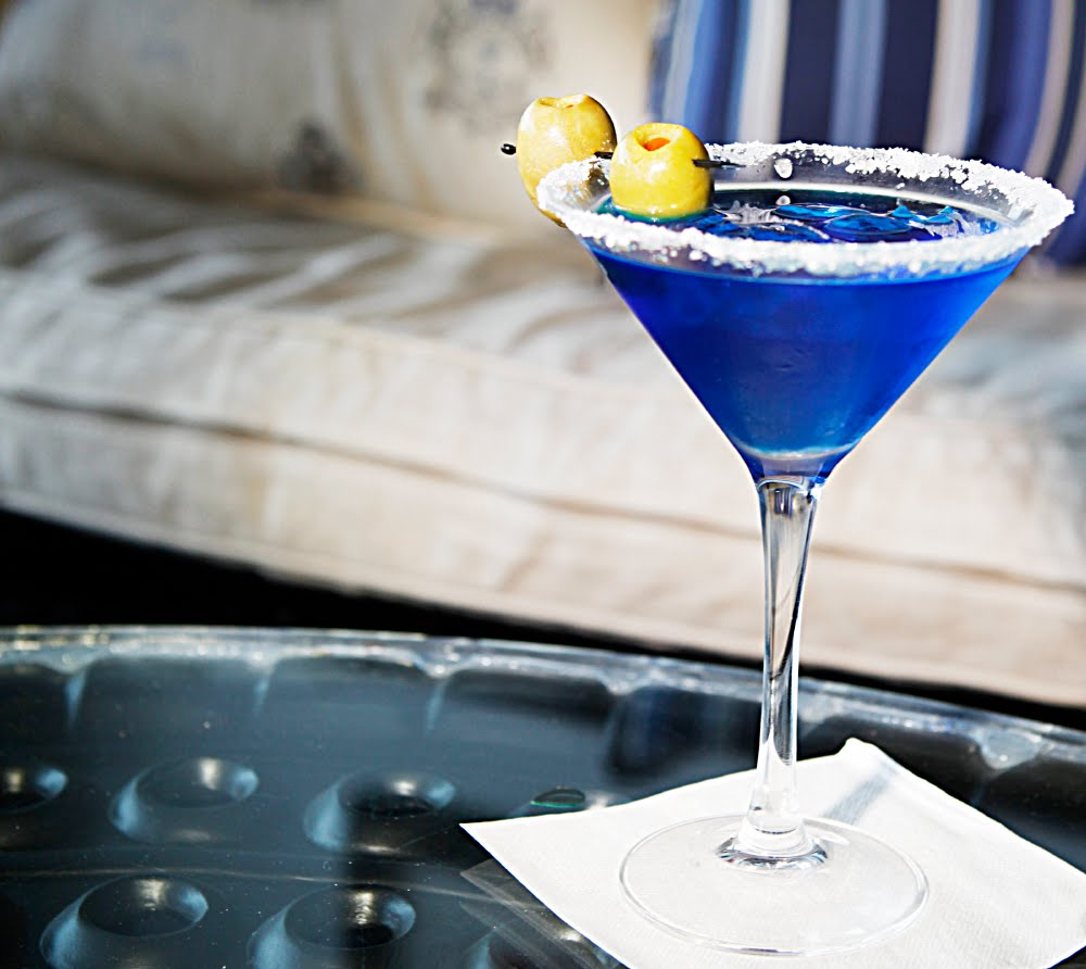 Signature Cocktail Recipes: Godolphin's Royal Blue Martini