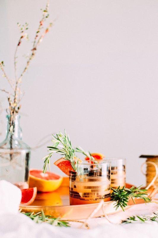 No-alcohol grapefruit cocktail