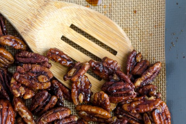 vegan sweet and spicy nuts snack recipe