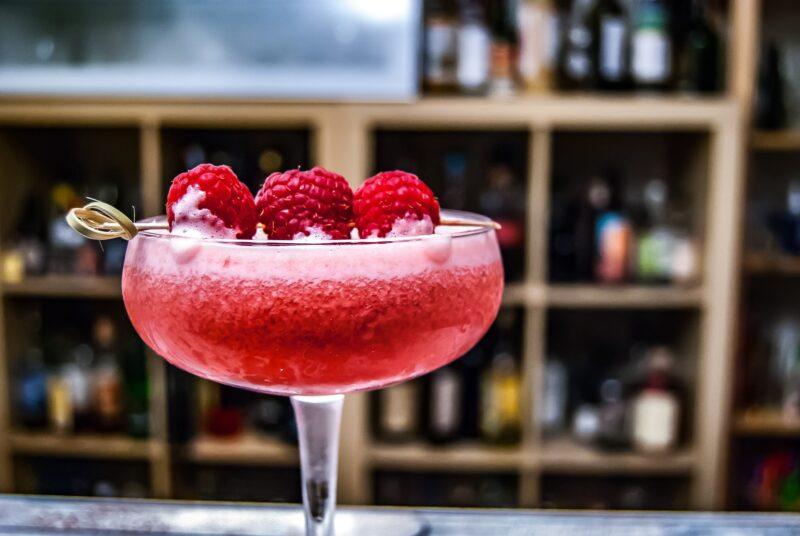 raspberry limoncello Prosecco float